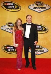 nascar_awards_vegas_2013_brian_france_amy_france