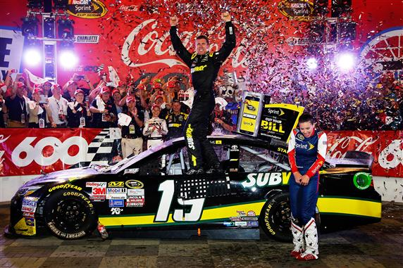 during the NASCAR Sprint Cup Series Coca-Cola 600 at Charlotte Motor Speedway on May 24, 2015 in Charlotte, North Carolina.