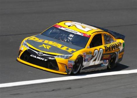 during practice for the NASCAR Sprint Cup Series Coca-Cola 600 at Charlotte Motor Speedway on May 21, 2015 in Charlotte, North Carolina.