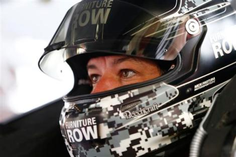 during practice for the NASCAR Sprint Cup Series Quicken Loans 400 at Michigan International Speedway on June 12, 2015 in Brooklyn, Michigan.