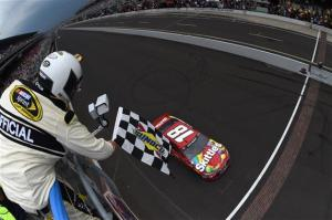 during the NASCAR Sprint Cup Series Crown Royal Presents the Jeff Kyle 400 at the Brickyard at Indianapolis Motor Speedway on July 26, 2015 in Indianapolis, Indiana.