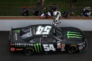during the NASCAR XFINITY Series Lilly Diabetes 250 at Indianapolis Motor Speedway on July 25, 2015 in Indianapolis, Indiana.