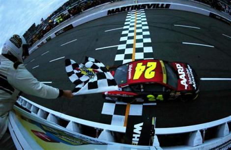 during the NASCAR Sprint Cup Series Goody's Headache Relief Shot 500 at Martinsville Speedway on November 1, 2015 in Martinsville, Virginia.