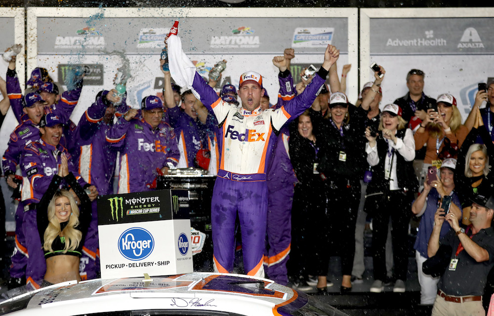 2019 Denny Hamlin Gets Emotional Second Nascar Daytona 500 Victory The Final Lap Weekly